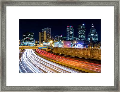 Rush Hour In Hartford, Ct Framed Print