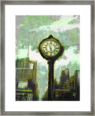Rush Hour Nyc Framed Print by Russell Pierce