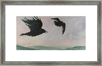Rush Hour Ravens Framed Print by Amy Reisland-Speer