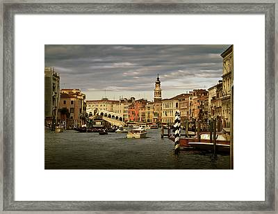 Framed Print featuring the photograph Rush Hour Venice by John Hix