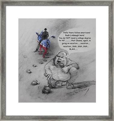Rush Limbaugh After Obama  Framed Print