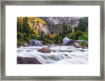 Rush Of The Merced Framed Print