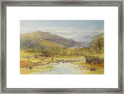 Rushford On The Teign Framed Print by Rosa Muller