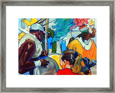 Rushin' Out Framed Print by Jeanne Russell