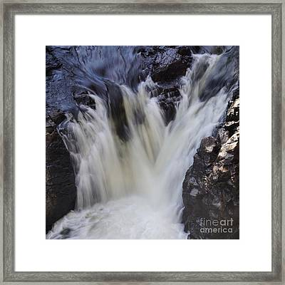 Framed Print featuring the photograph Rushing by Aimelle