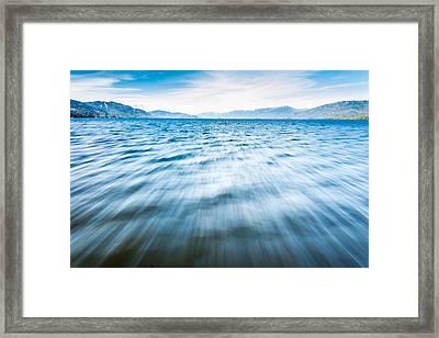 Rushing Away Framed Print