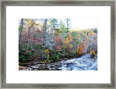 Rushing Framed Print by Brittany H