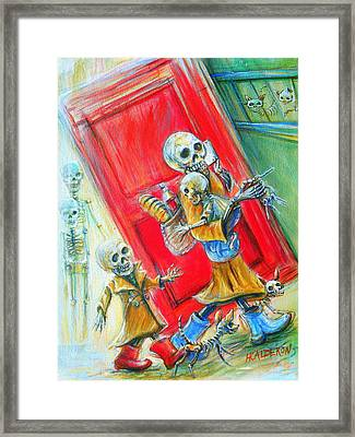 Framed Print featuring the painting Rushing by Heather Calderon