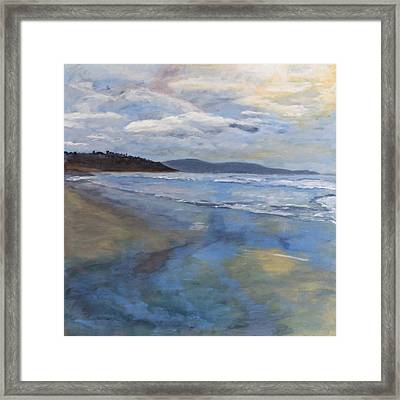 Rushing In... Framed Print