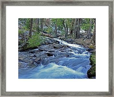 Rushing Riverbend Framed Print