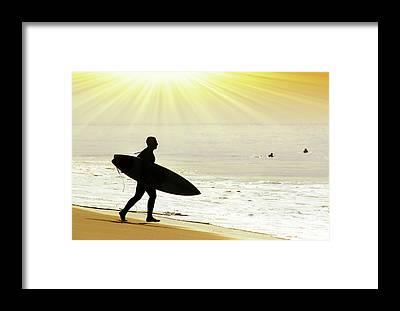 Surf Boards Framed Prints