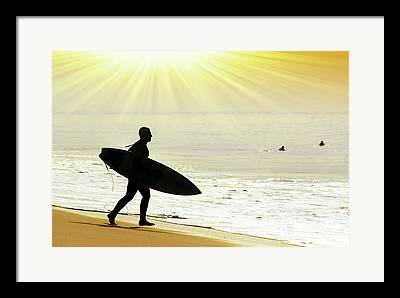 Exciting Surf Framed Prints