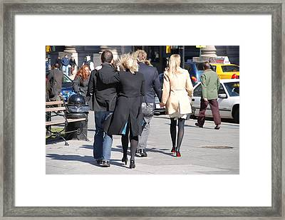 Rushing To The Alter Framed Print by Rob Hans