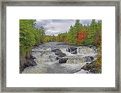 Framed Print featuring the photograph Rushing Towards Fall by Glenn Gordon