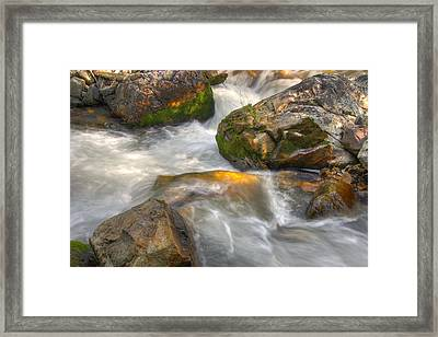 Rushing Water 1 Framed Print by Douglas Pulsipher