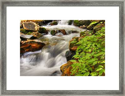 Rushing Water 3 Framed Print by Douglas Pulsipher