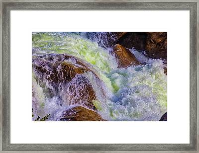 Rushing Water Framed Print by Garry Gay