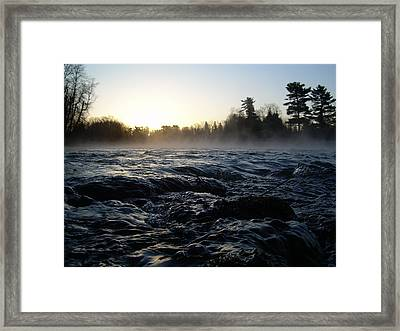 Framed Print featuring the photograph Rushing Water In Missississippi River by Kent Lorentzen
