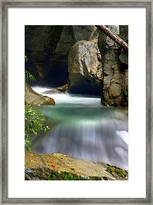 Rushing Water Framed Print by Marty Koch