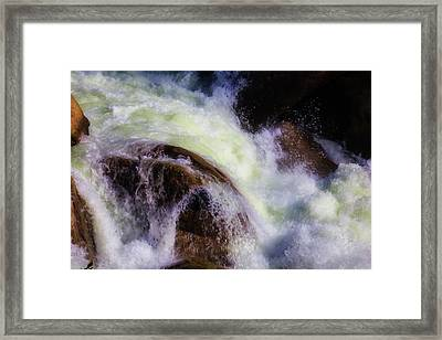 Rushing Water Merced River Framed Print by Garry Gay