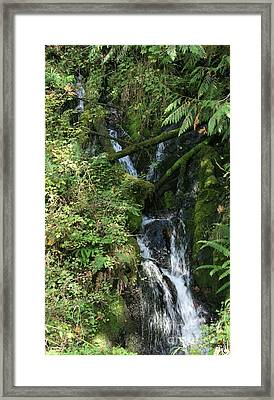 Rushing Water Framed Print by Victoria Harrington