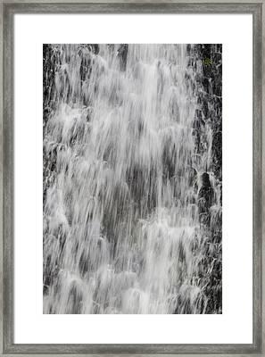 Rushing Waterfall Framed Print