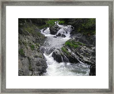 Rushing Waterfalls Framed Print by Allison Prior