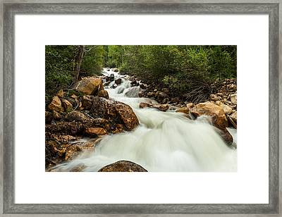 Rushing Waters-colorado Framed Print by TL  Mair