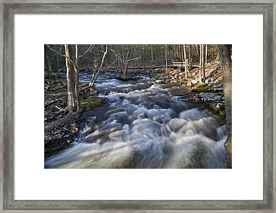 Rushing Waters Framed Print