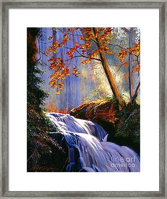 Rushing Waters Framed Print by David Lloyd Glover