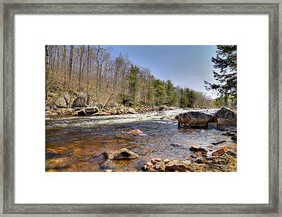 Framed Print featuring the photograph Rushing Waters Of The Moose River by David Patterson