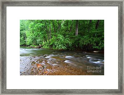 Rushing Waters Of The Patapsco River Maryland Framed Print
