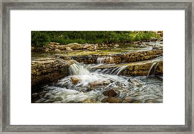 Rushing Waters - Upper Provo River Framed Print