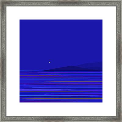 Framed Print featuring the digital art Rushing Waters by Val Arie