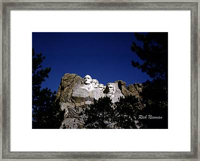 Rushmore Framed Print
