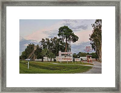 Ruskin Drive-in Theater By H H Photography Of Florida  Framed Print by HH Photography of Florida