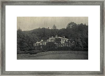 Ruskin S Home, Brantwood In The Lake Framed Print by Vintage Design Pics