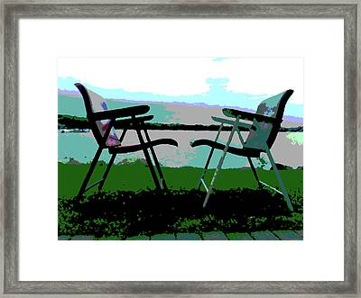 Russel Wright Chairs Pop Art Abstraction Framed Print