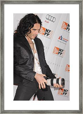 Russell Brand At Arrivals For 48th New Framed Print by Everett