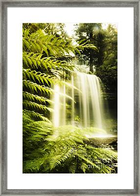 Russell Falls Background Framed Print by Jorgo Photography - Wall Art Gallery