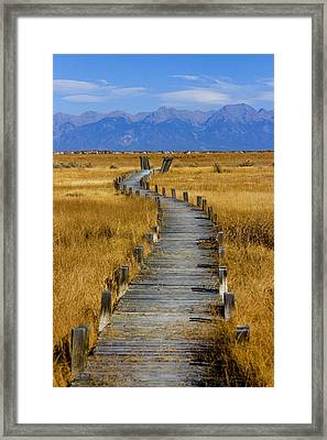 Russell Lakes Framed Print by Emily Horn