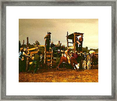 Russell Lee's Rodeo Framed Print by Timothy Bulone