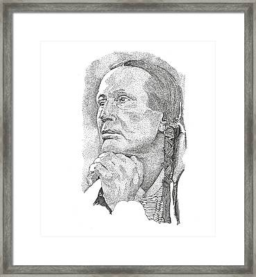 Russell Means Framed Print