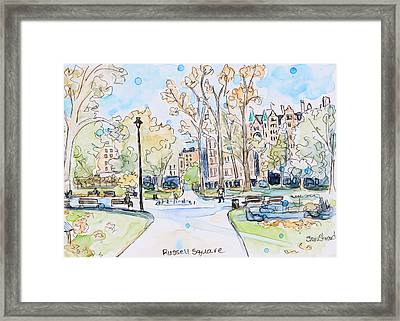 Russell Square Framed Print by Shaina Stinard