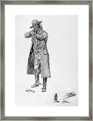 Russell: Stage Robber Framed Print by Granger