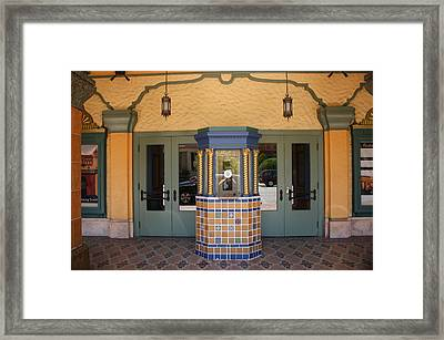 Russell Theatre Entrance Framed Print