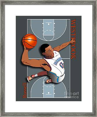 Russell Westbrook, No. 0 Framed Print