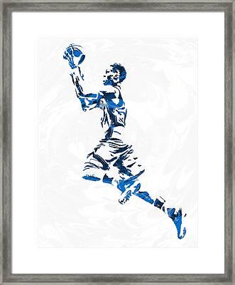 Russell Westbrook Oklahoma City Thunder Pixel Art 10 Framed Print