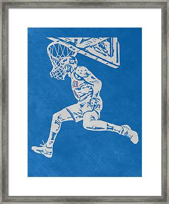 Russell Westbrook Scratched Metal Art 1 Framed Print