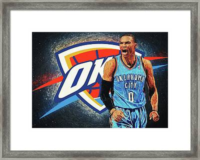 Russell Westbrook Framed Print
